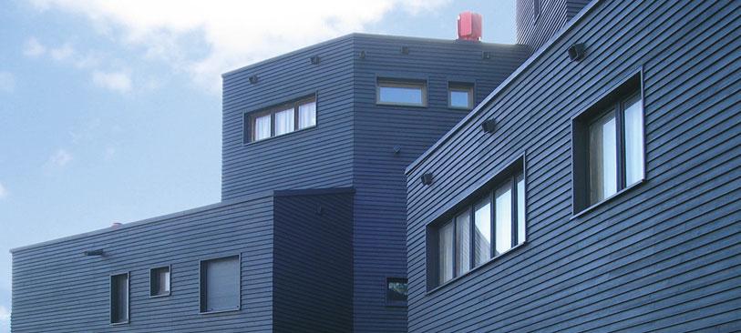 Schwarze Fassade cape cod habisreutinger