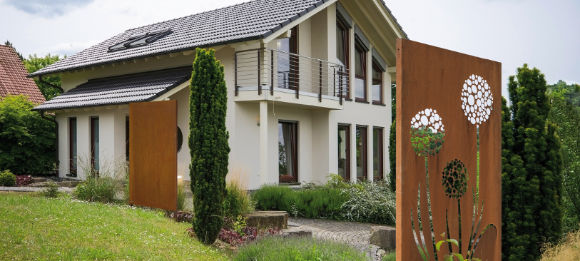 Sichtschutzzäune Aus Cortenstahl Gartenwelt Habisreutinger